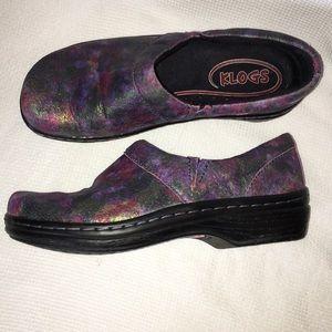 Klogs Shimmer Metallic Slip On Shoes/Clogs